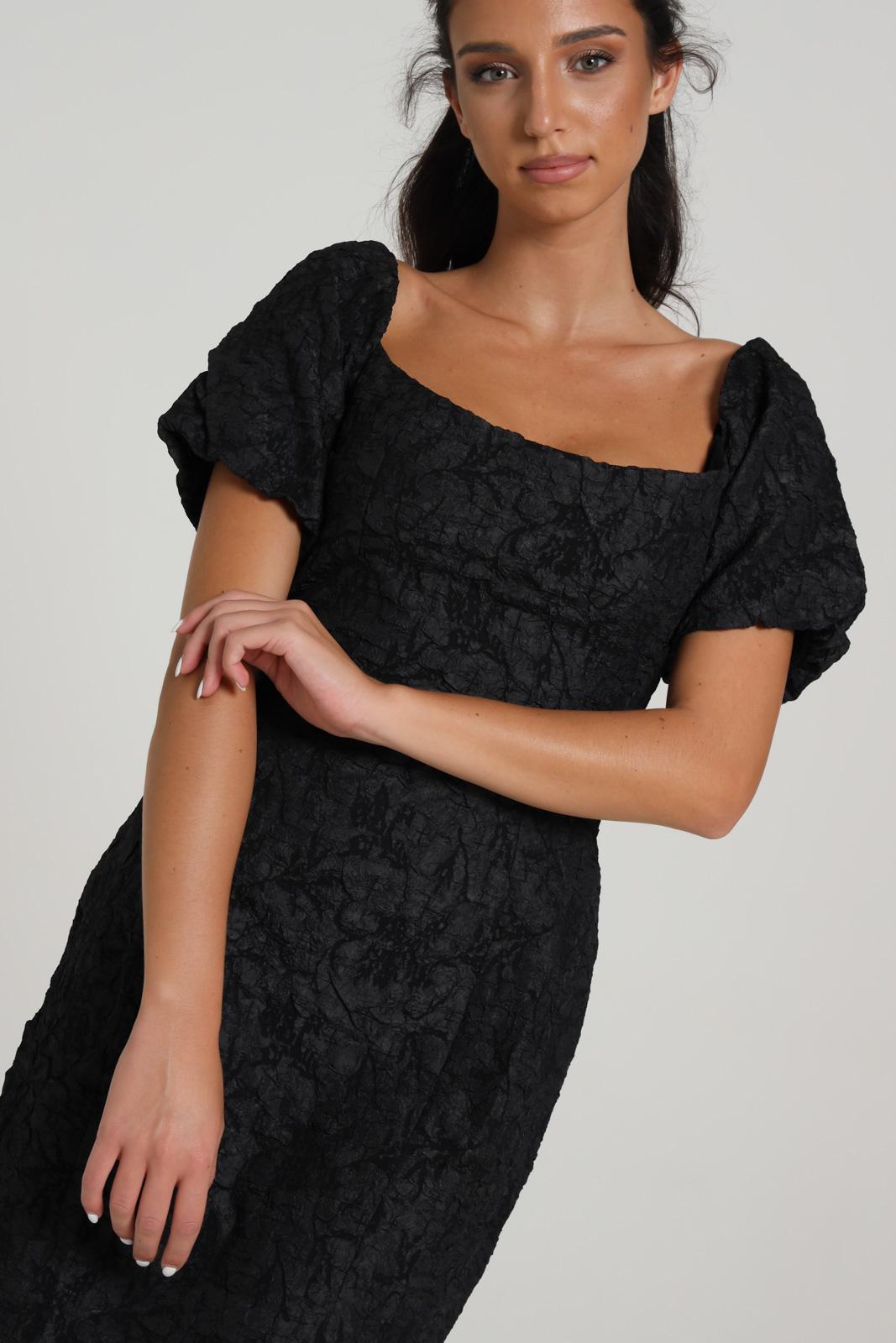 GLAMOROUS | Dress | KA6770BLACK TEXTURED