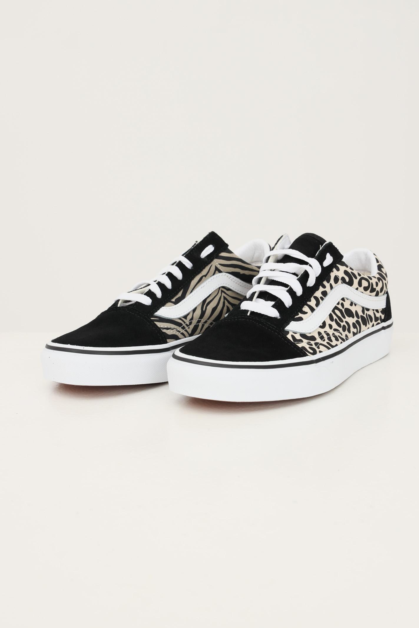 Sneakers old skool animal white da donna vans con stampa allover ...