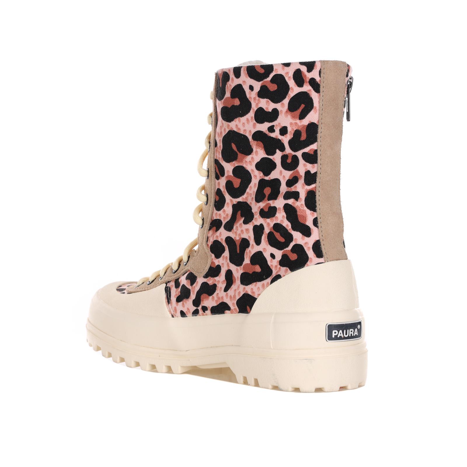Sneakers Animalier Con Chiusura In Zip E Lacci SUPERGA X PAURA | Sneakers | S6111BWBROWNLEOPARD
