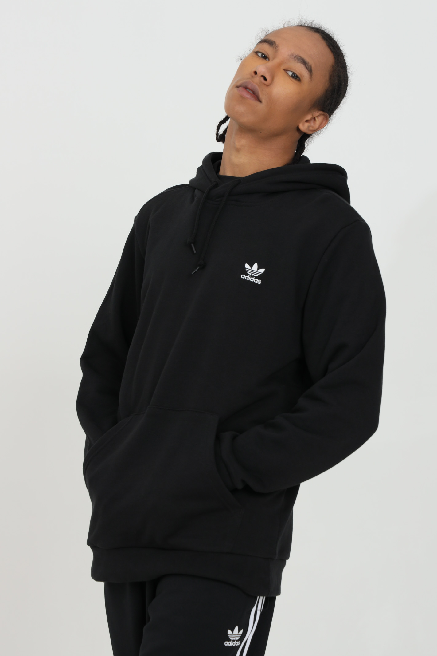 Hoodie with laces and front logo ADIDAS | Sweatshirt | FM9956.