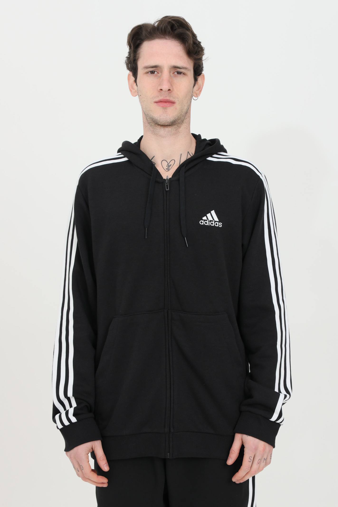 Essentials French terry hoodie with zip ADIDAS | Sweatshirt | GK9032.