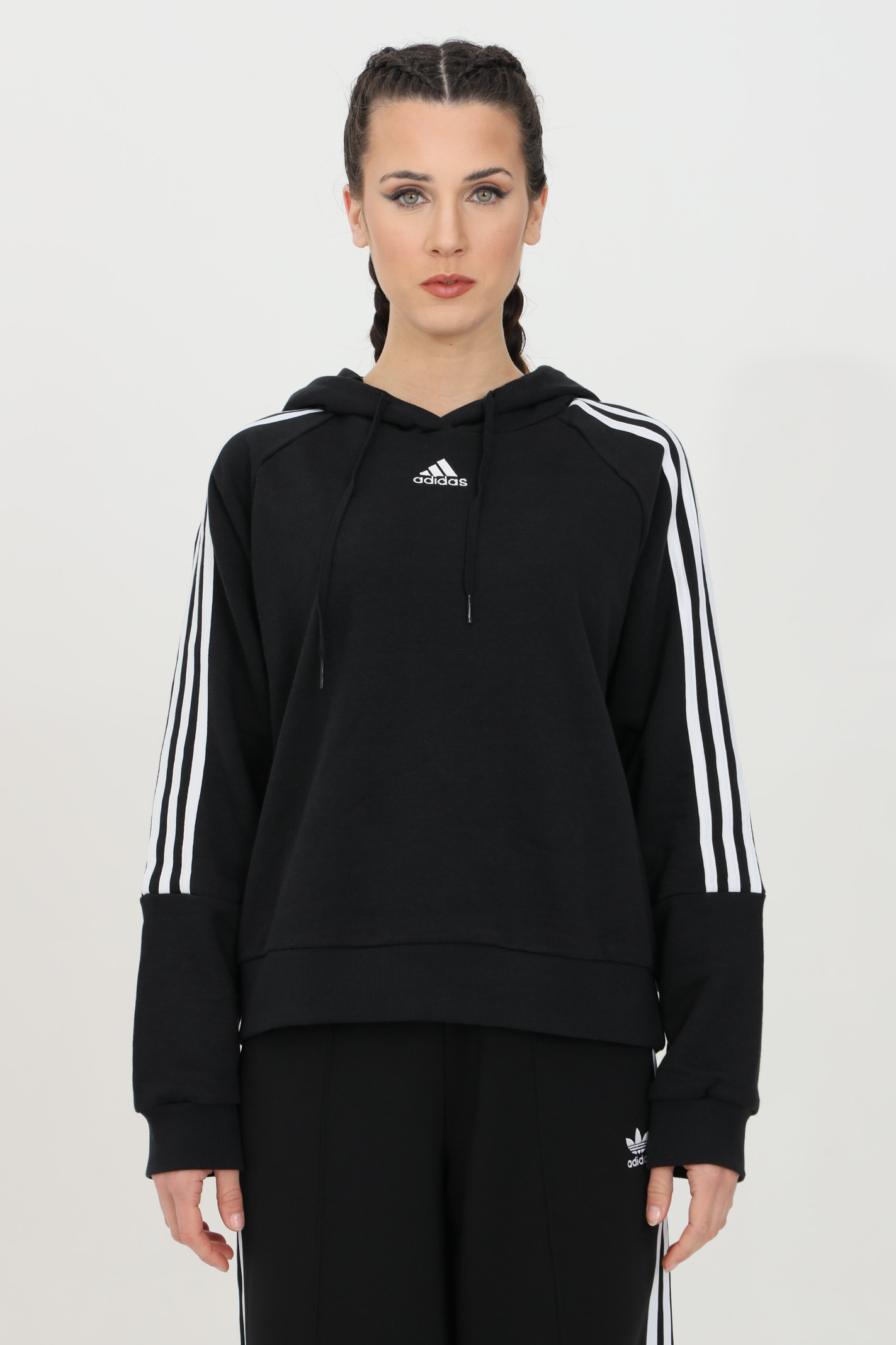 Felpa essential loose-cut cropped ADIDAS | Felpe | GL1460.