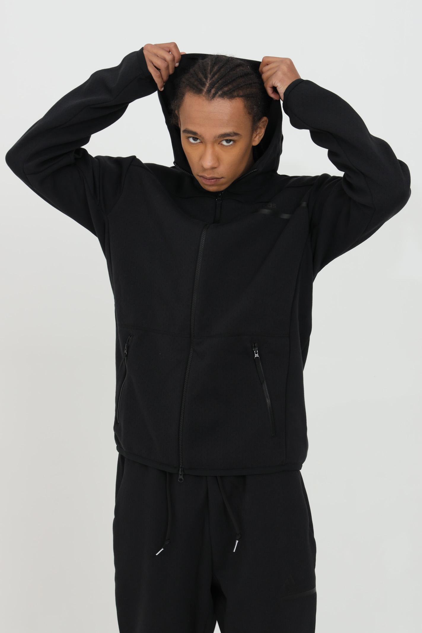 Sweatshirt with zip in solid color ADIDAS | Sweatshirt | GM6531.