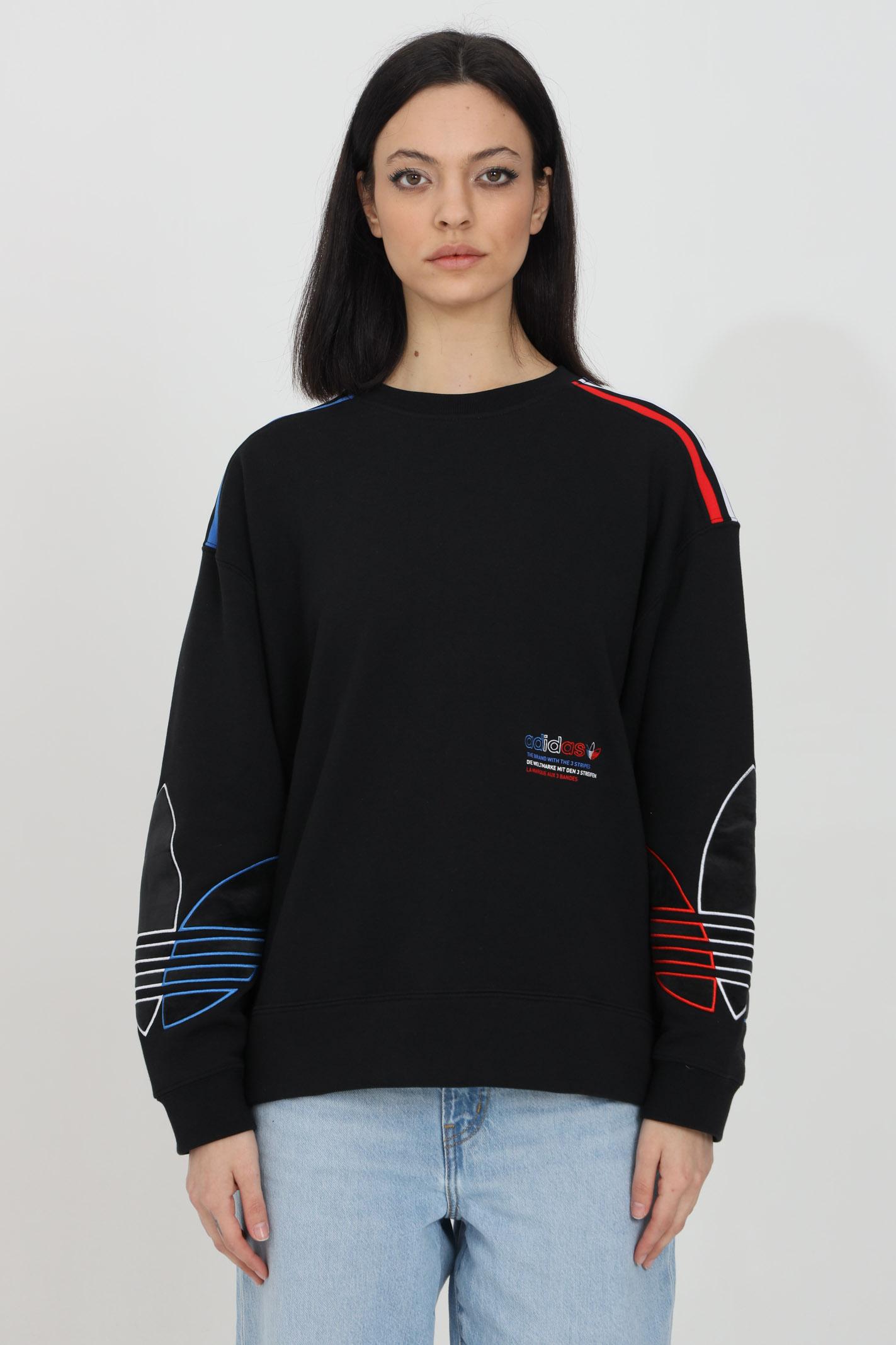 Crew neck sweatshirt with multicolor embroidery ADIDAS | Sweatshirt | GN2822.