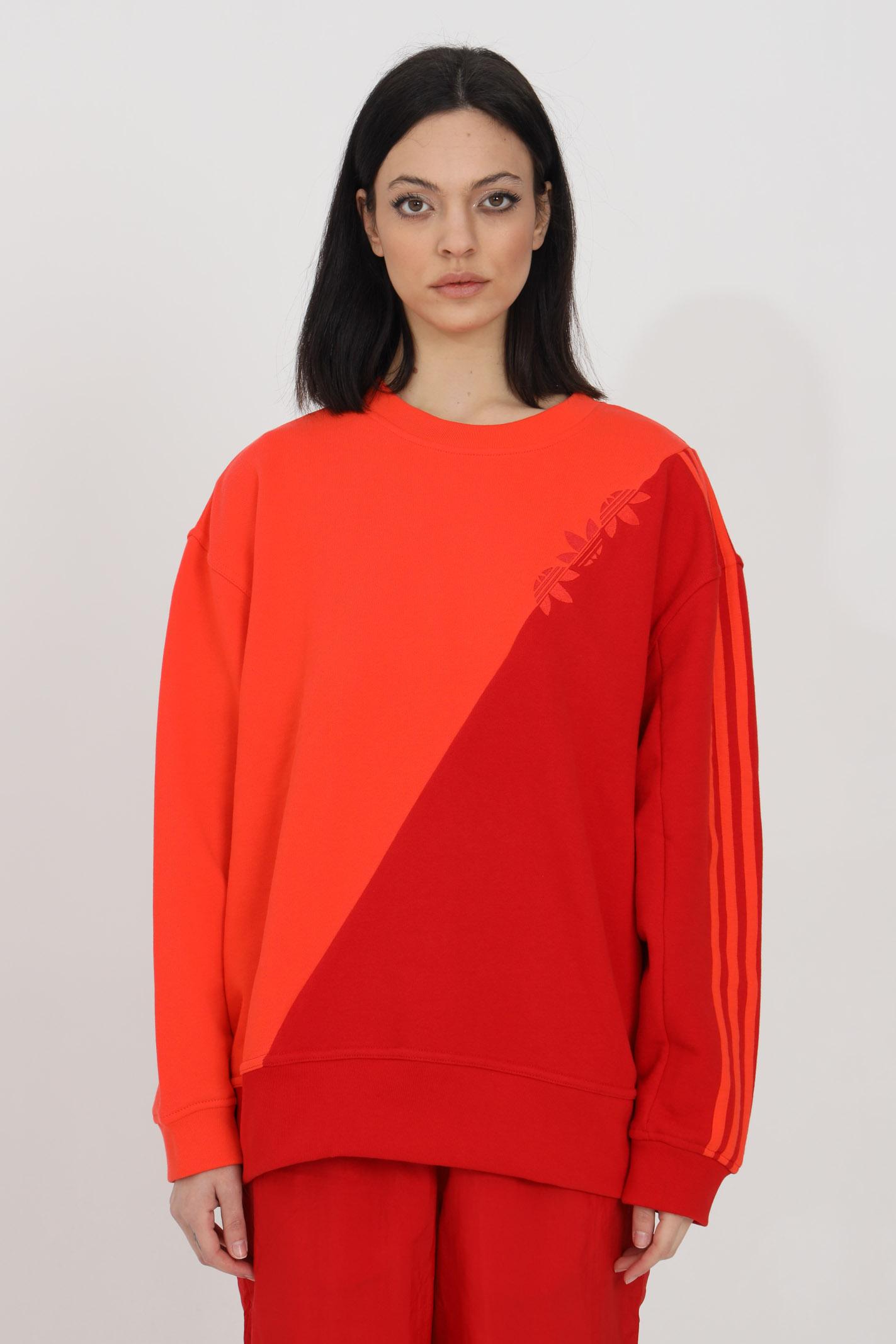 Bicolor crew neck sweatshirt with front logo ADIDAS | Sweatshirt | GN2834.