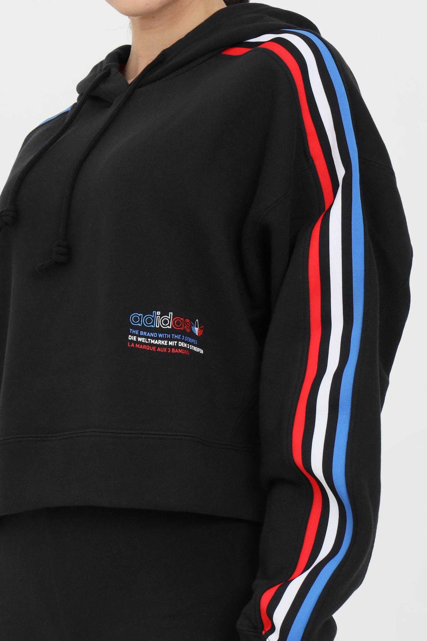 Sweatshirt adicolor tricolor trefoil crop ADIDAS | Sweatshirt | GN2853.