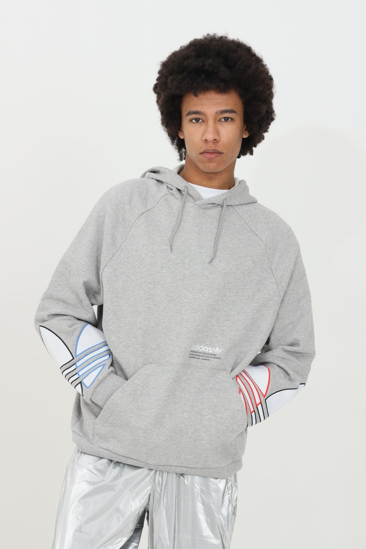 Sweatshirt with cap adicolor tricolor trefoil ADIDAS | Sweatshirt | GN3571.