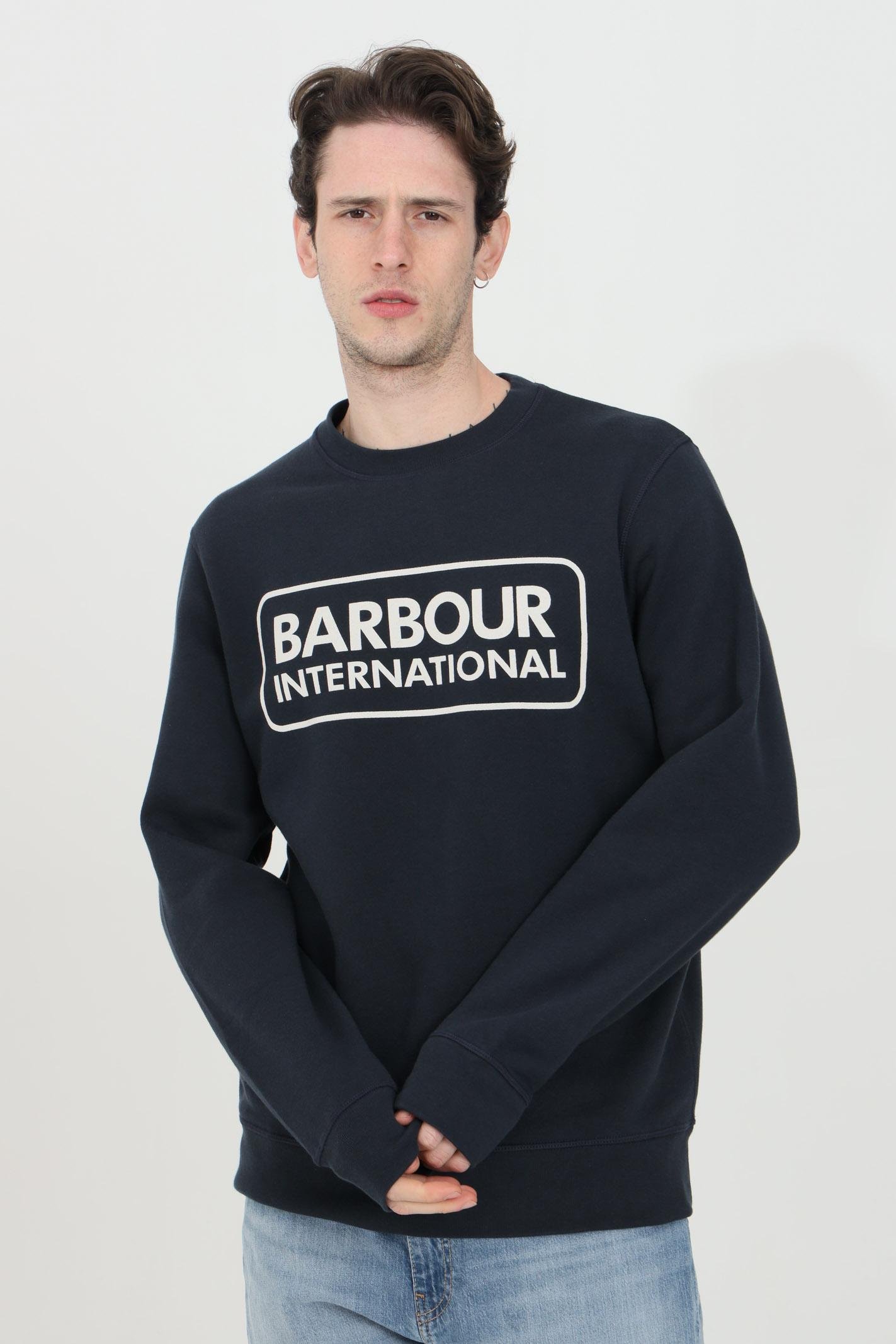 Felpa girocollo logo international sul fronte BARbour | Felpe | MOL0156-MOLNY91