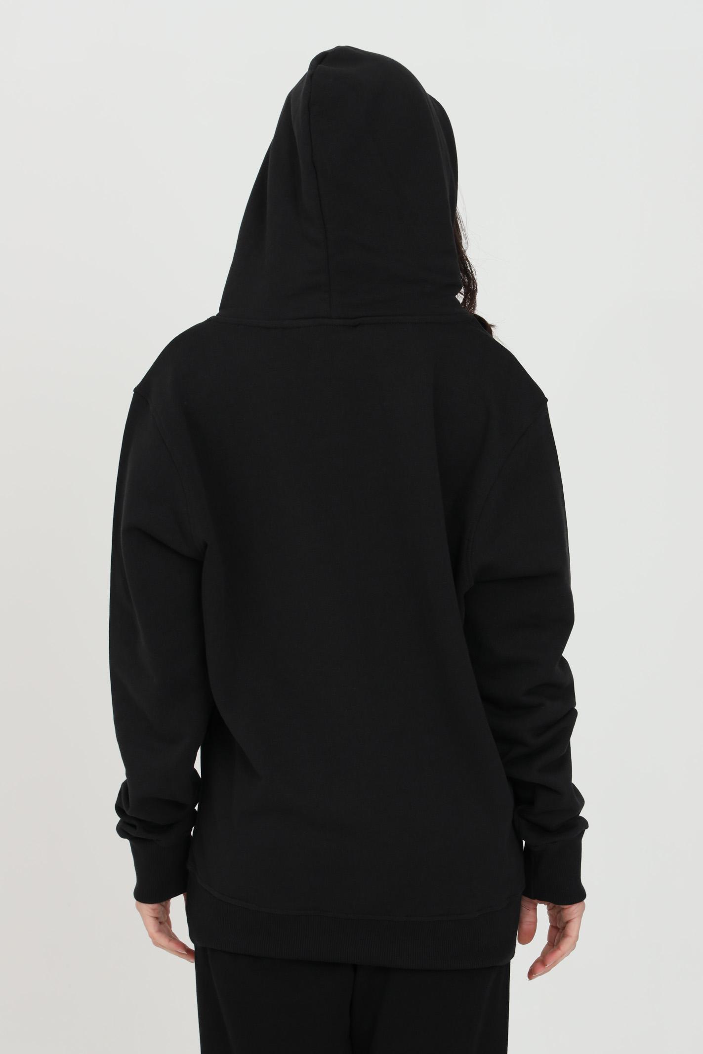 Felpa in tessuto nero con cappuccio BHMG | Felpe | 028322023