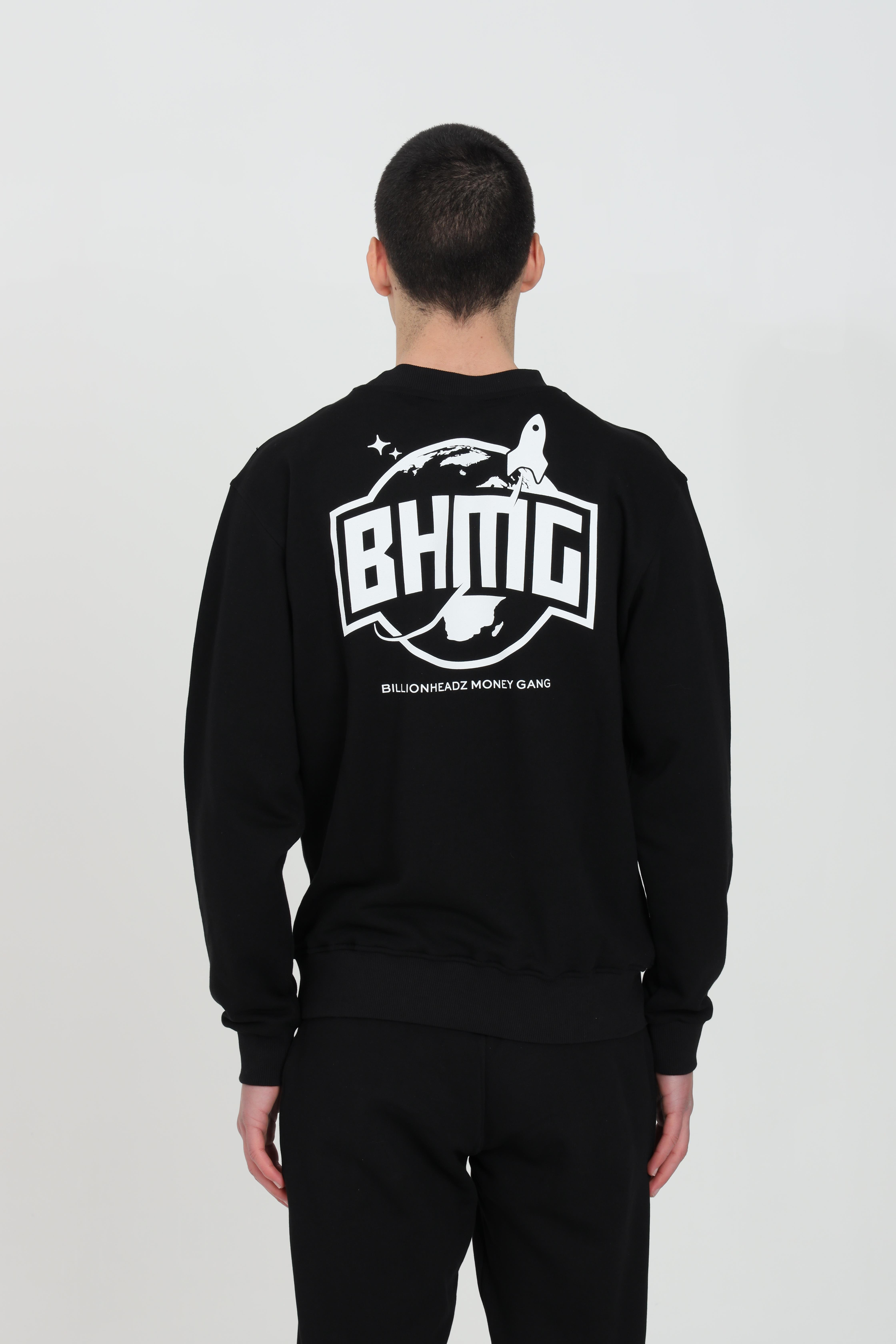 Crew neck sweatshirt with maxi print on the front BHMG | Sweatshirt | 028354110