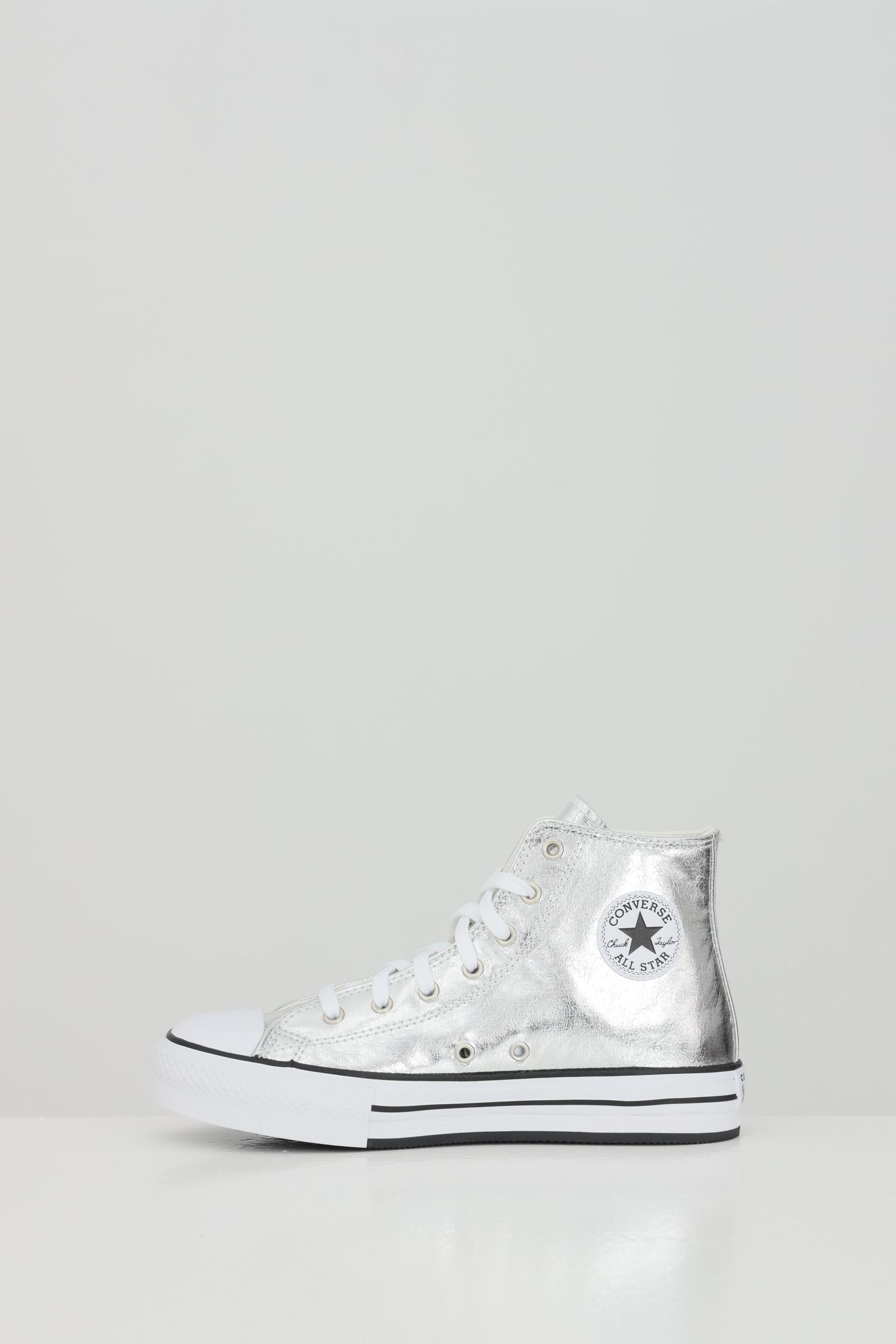 Sneakers bambina argento converse modello stivaletto