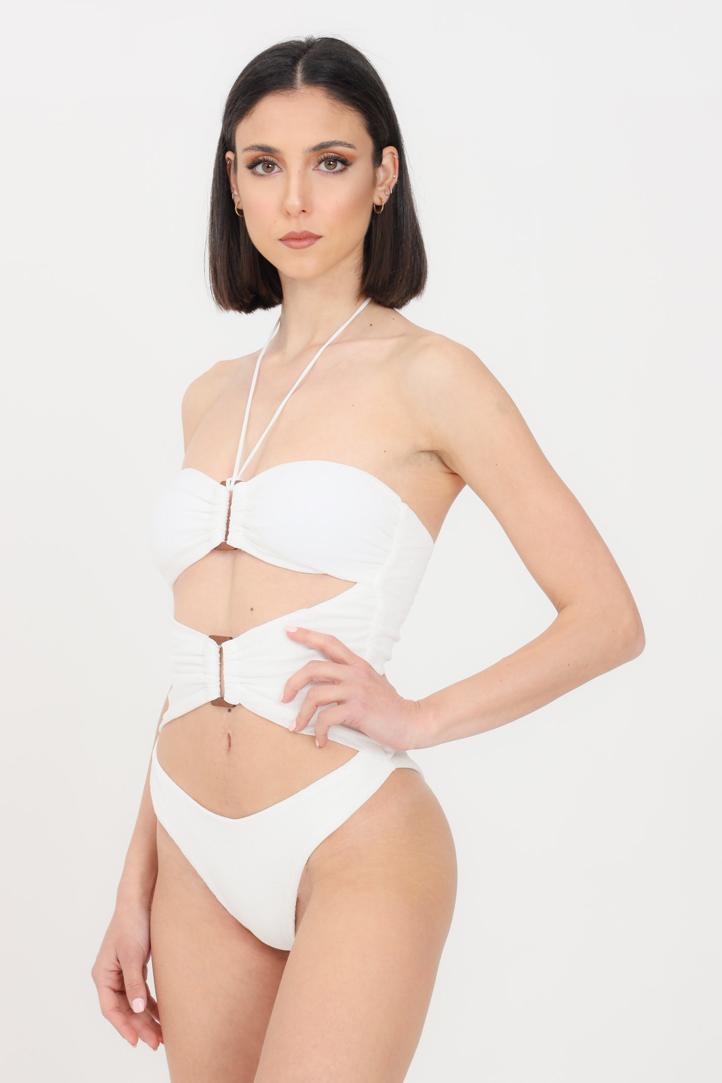 Image of Costume intero donna bianco f**k monokini roam