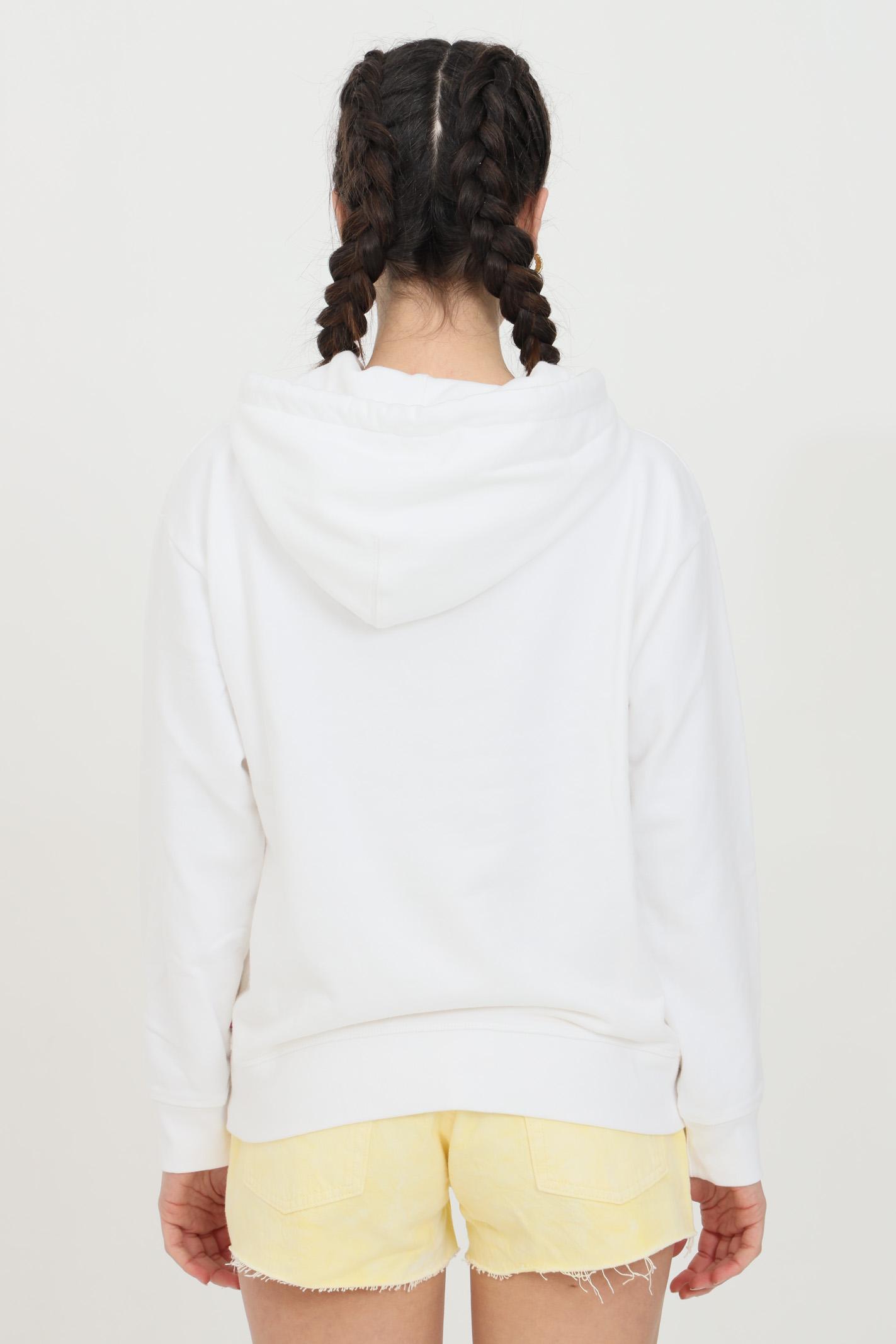 White graphic standard hoodie with front print, kangaroo pocket. Levi's  LEVI'S | Sweatshirt | 18487-00020002