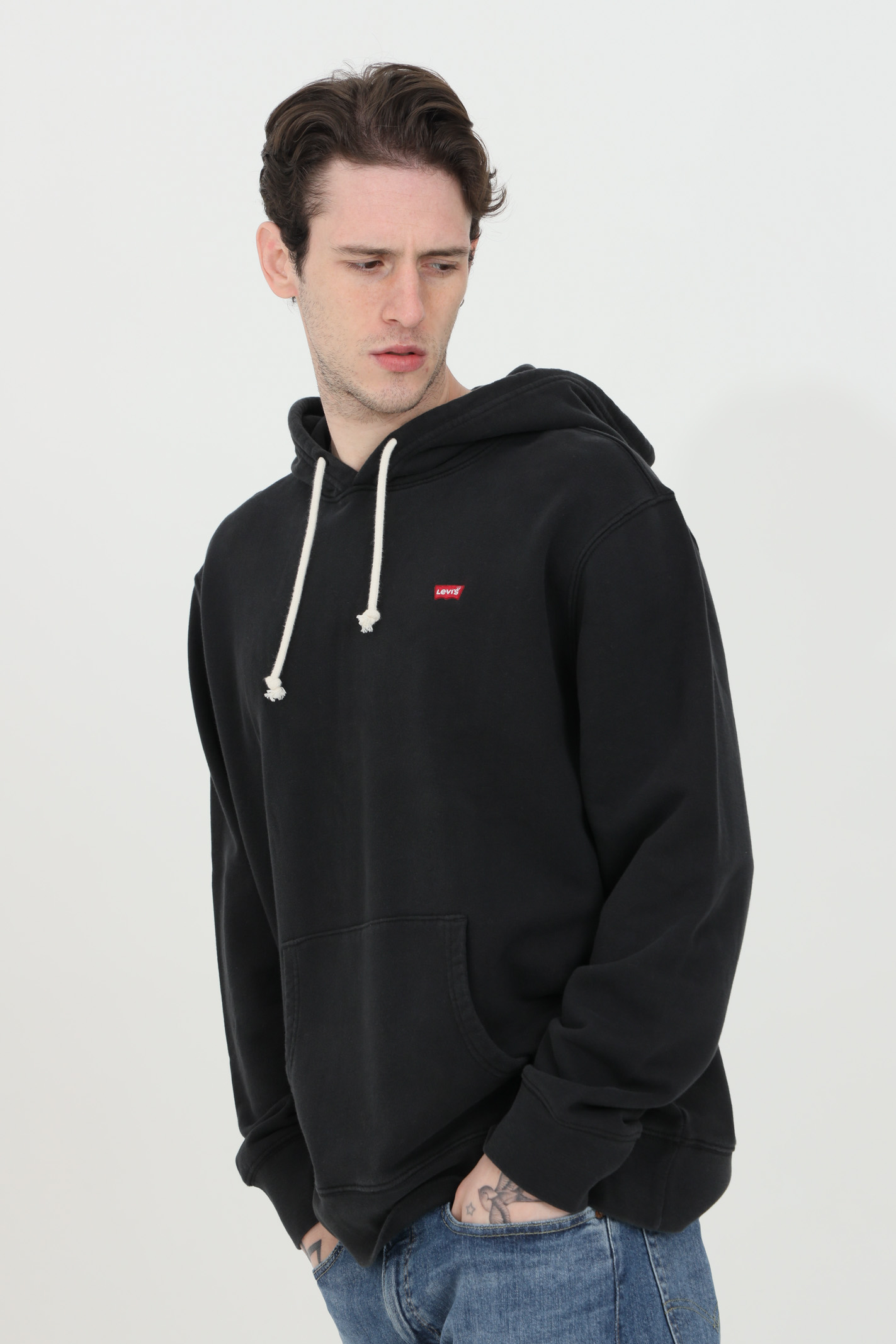 Hoodie with laces, solid color LEVI'S | Sweatshirt | 34581-00010001