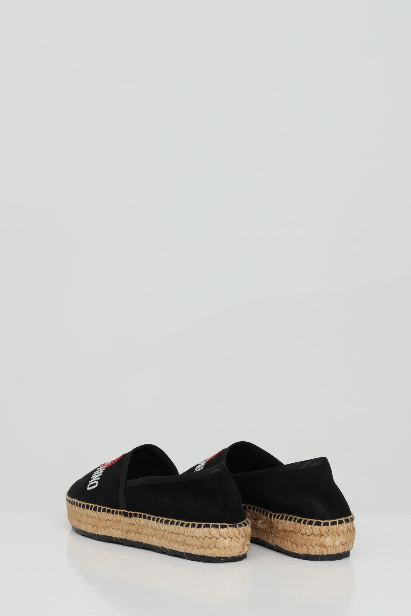 Black espadrillas with front logo and hemp para. Love moschino LOVE MOSCHINO | Espadrilles | JA10023G0C-IF0000