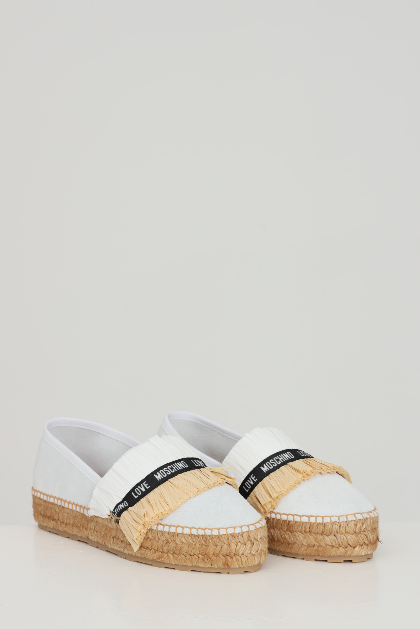 White espadrillas with logo on the front and hemp para. Love moschino LOVE MOSCHINO | Espadrilles | JA10403G0C-JG0100
