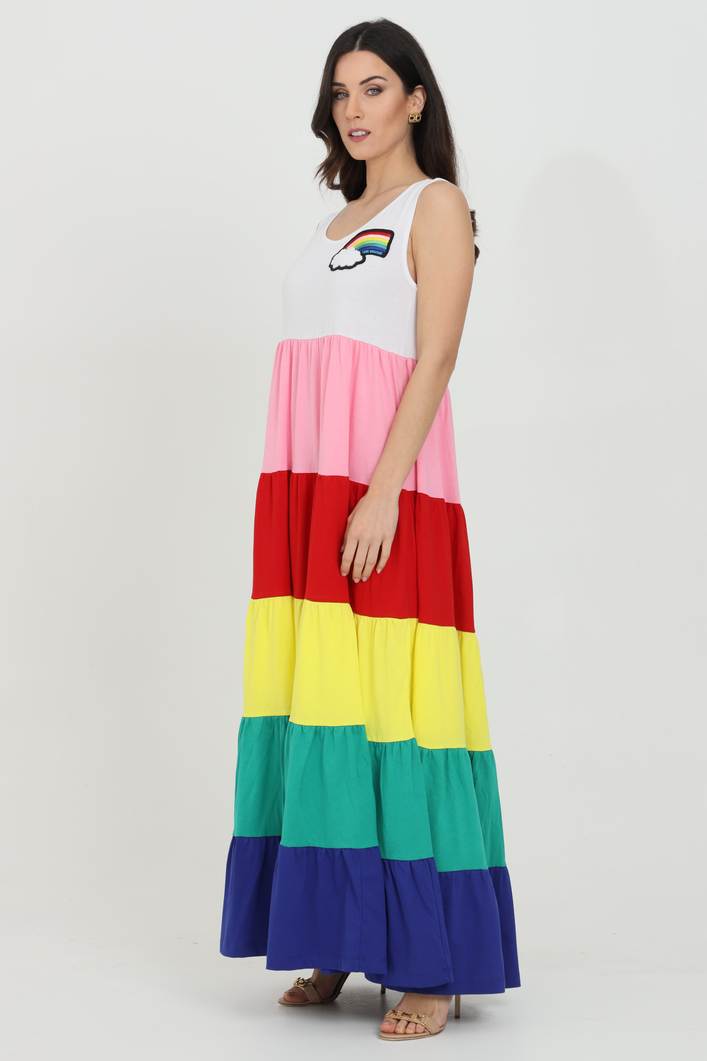 Long dress with multicolored flounces LOVE MOSCHINO   Dress   W5C1280M38764004