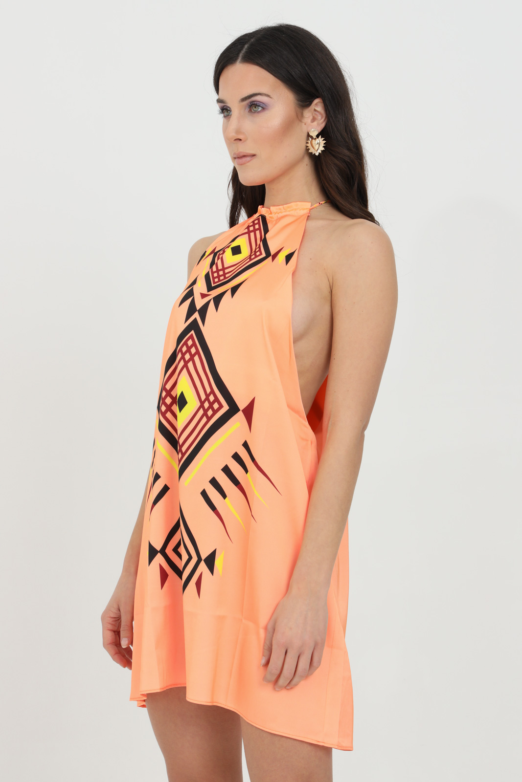 Swimsuit cover with geometric print ME FUI | Outwater | M21-1604U.