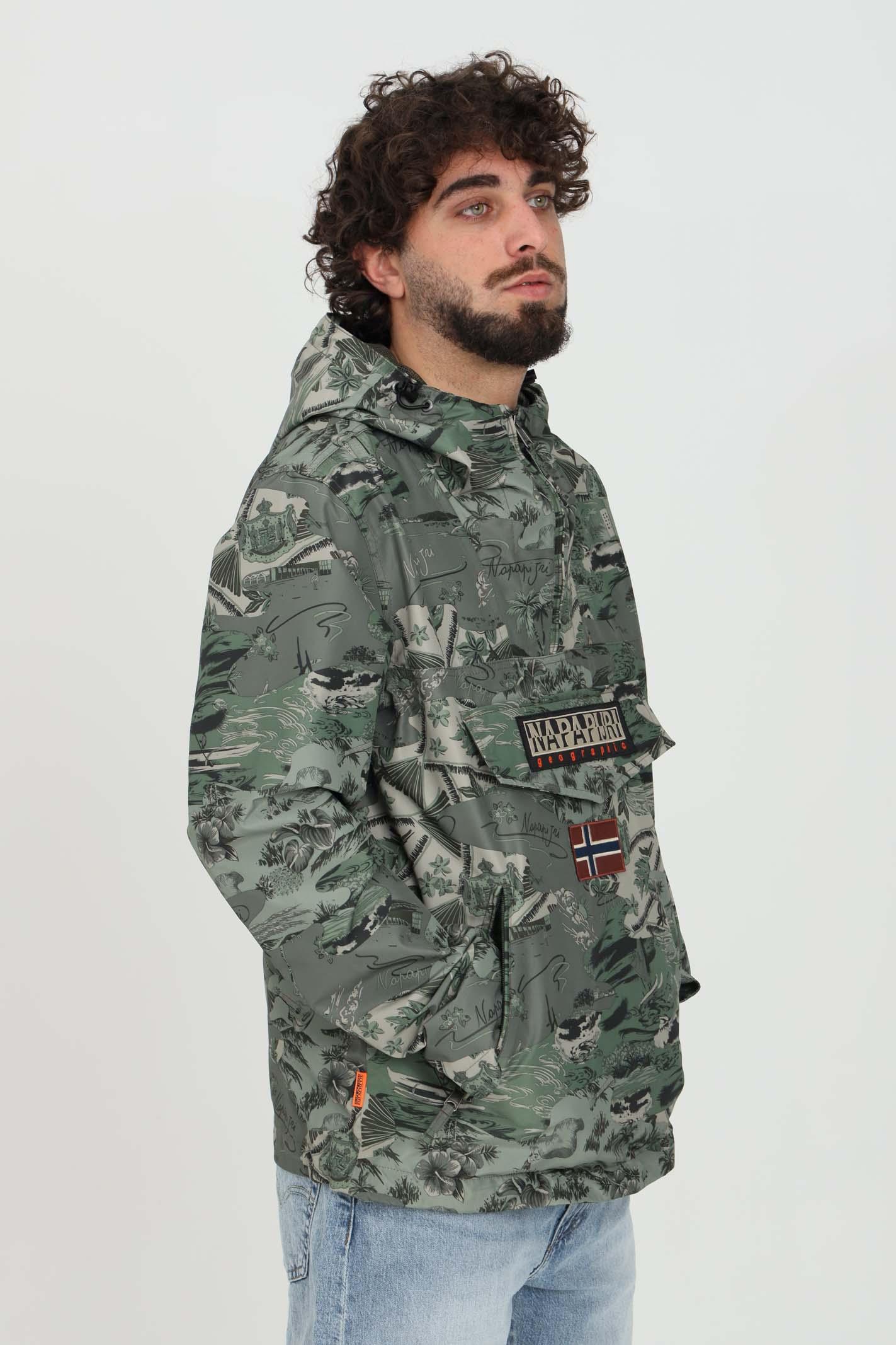 Giubbotto uomo verde napapijri con cappuccio NAPAPIJRI | Giubbotti | NP0A4FDLF3V1F3V1