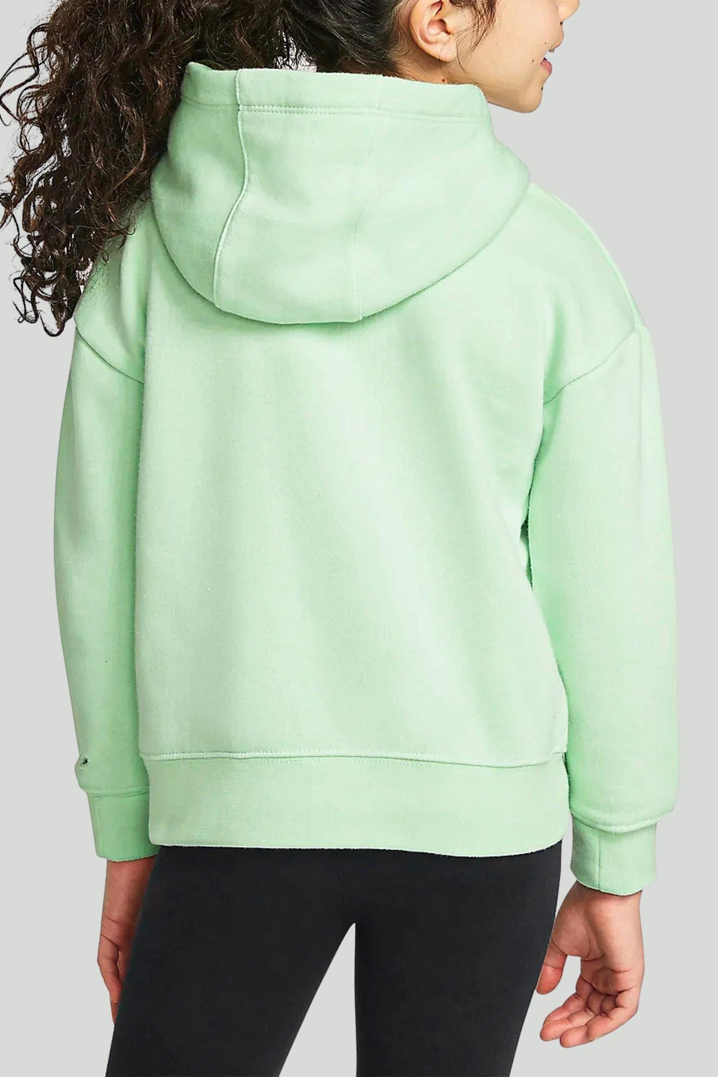 Green baby hoodie with animalier logo on the front. Nike NIKE | Sweatshirt | 36H496-E2EE2E