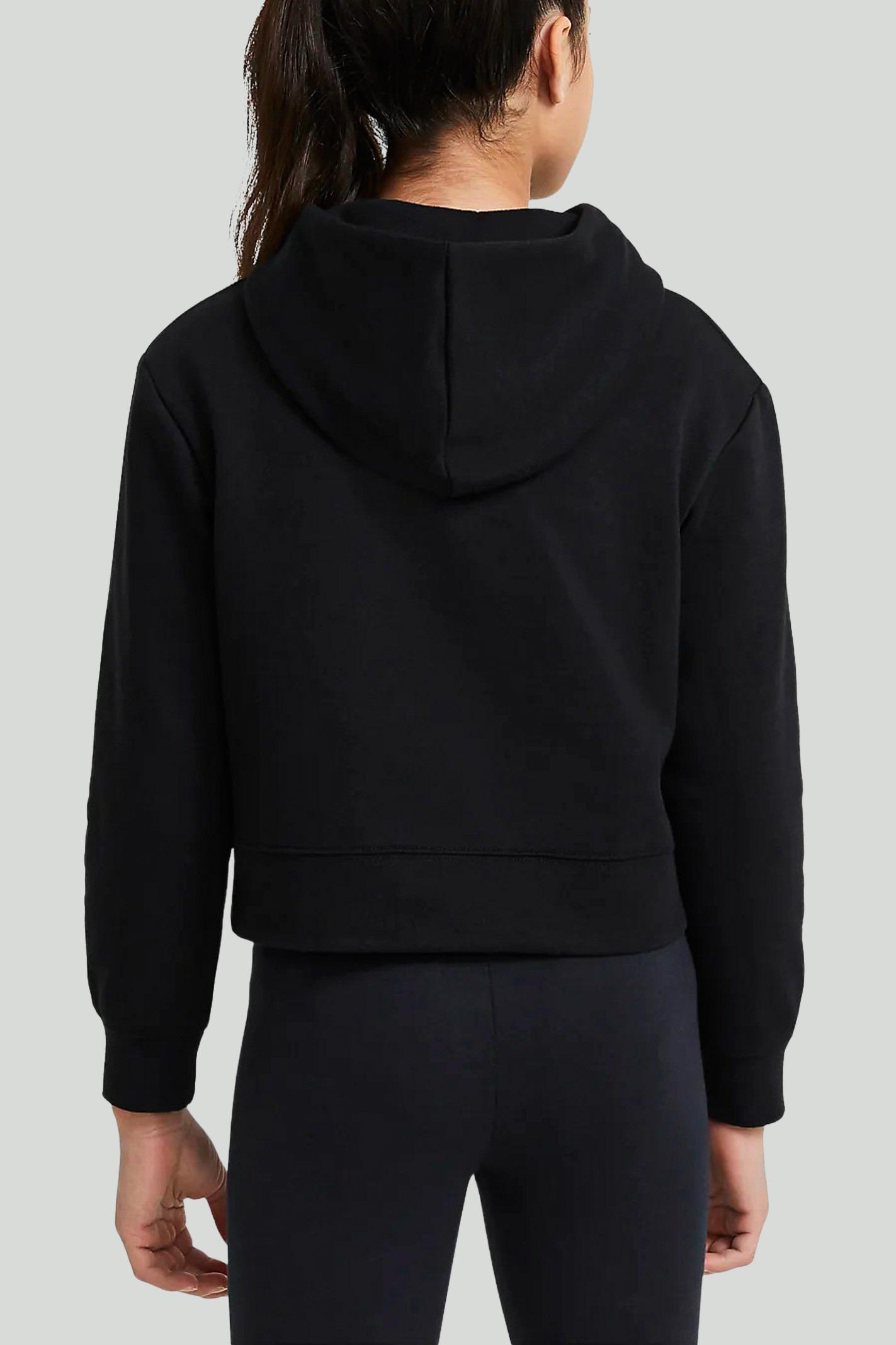 Black hoodie with maxi logo on the front. Baby model. Brand: Nike-Jordan NIKE | Sweatshirt | 45A442-023023