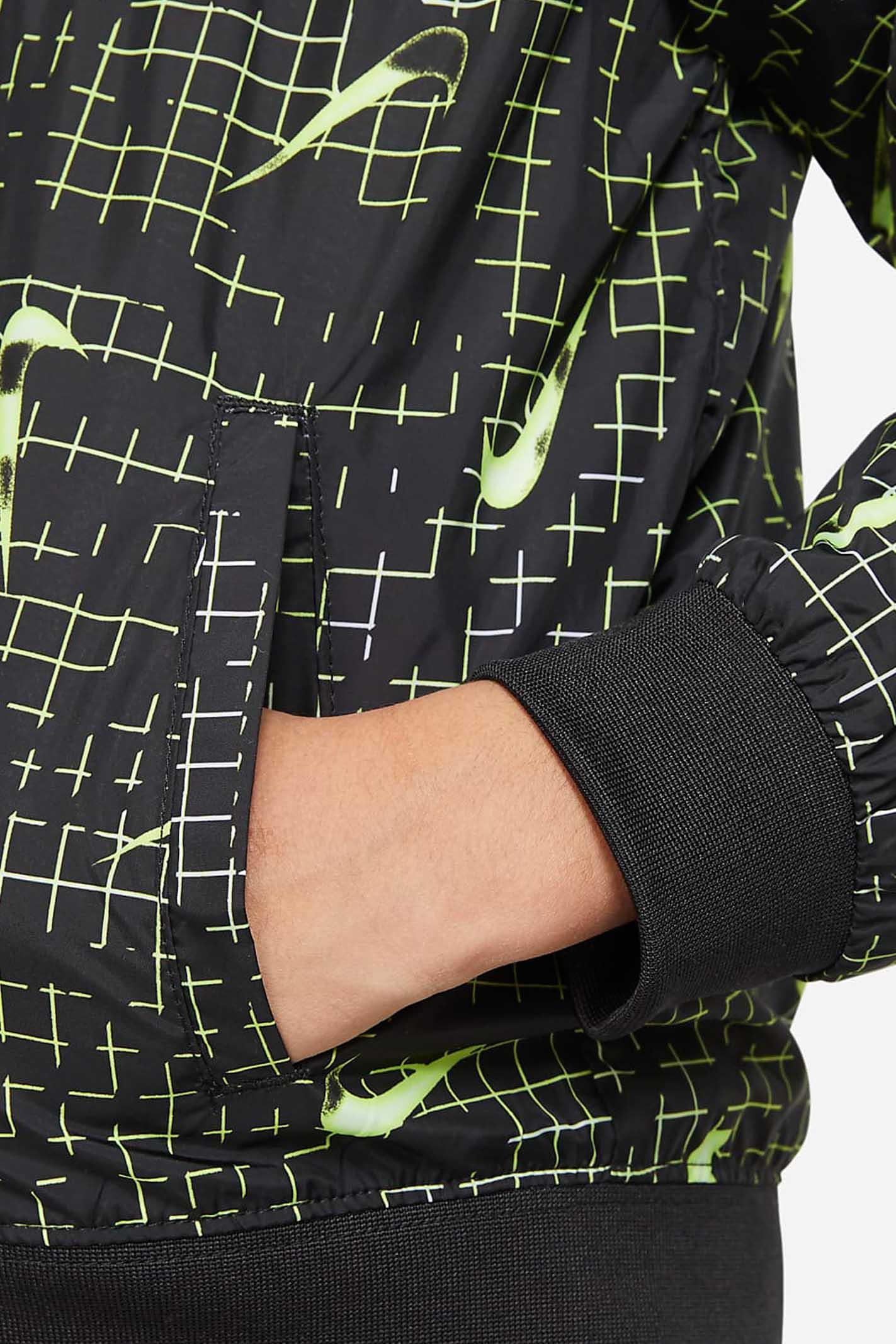 Black baby sweatshirt with allover logo print. Nike NIKE   Sweatshirt   86H529-02323