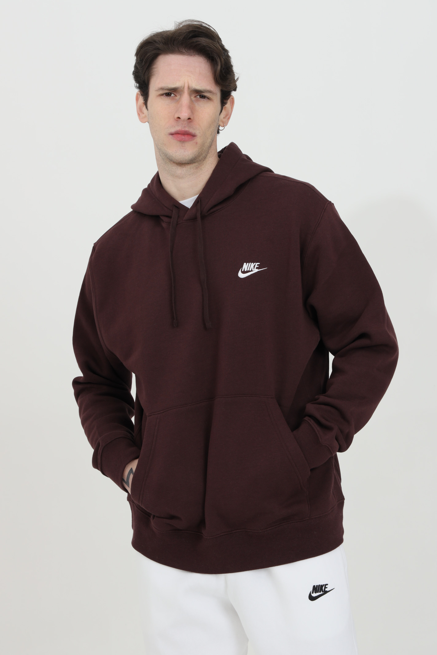 Hoodie with laces, solid color NIKE | Sweatshirt | BV2654263