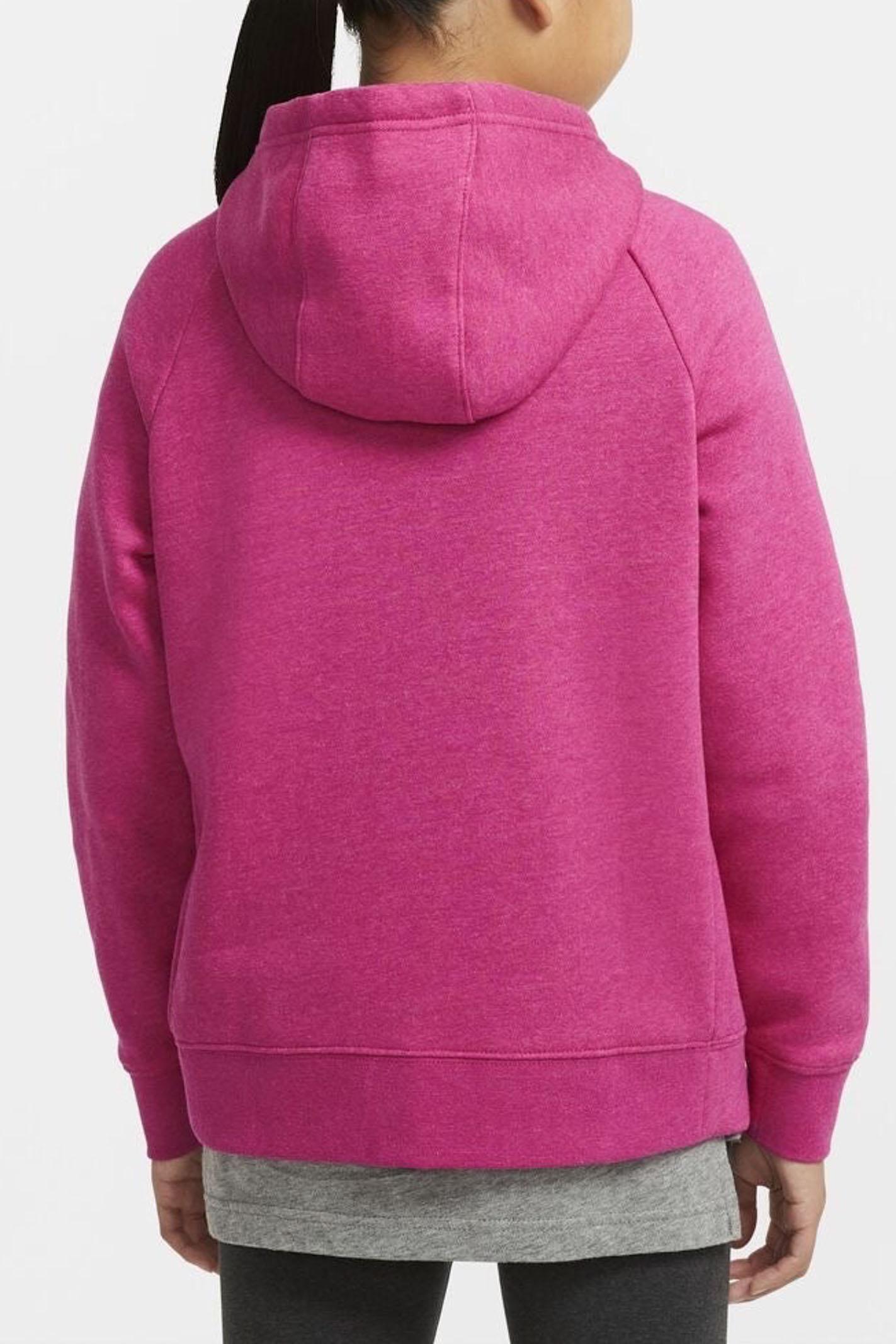 Fuchsia baby hoodie with front zip closure. Nike NIKE | Sweatshirt | BV2712615