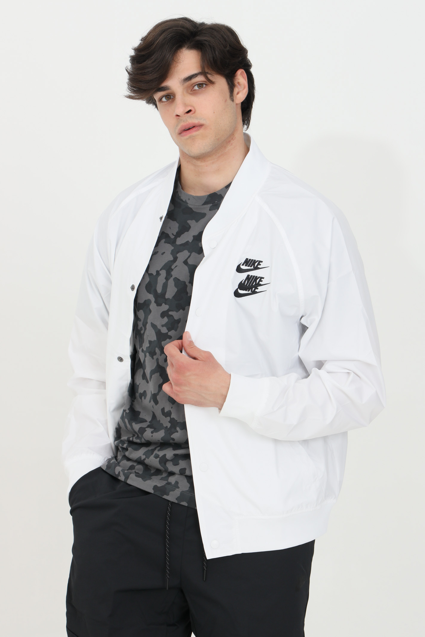 Light jacket with buttons and stand-up collar NIKE | Jacket | DA0647100