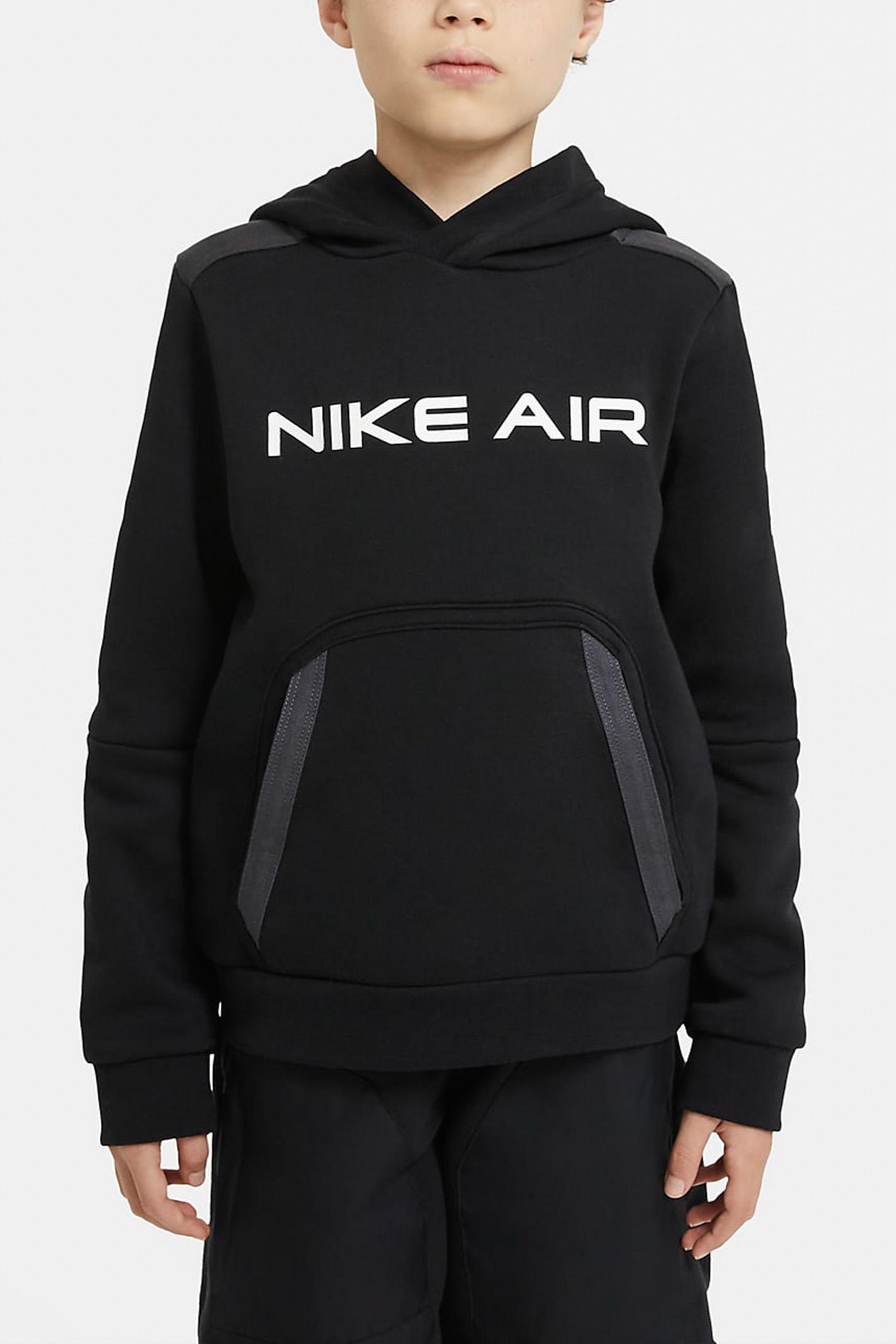 Felpa air bambino nera Nike con cappuccio e tascone frontale NIKE | Felpe | DA0700010