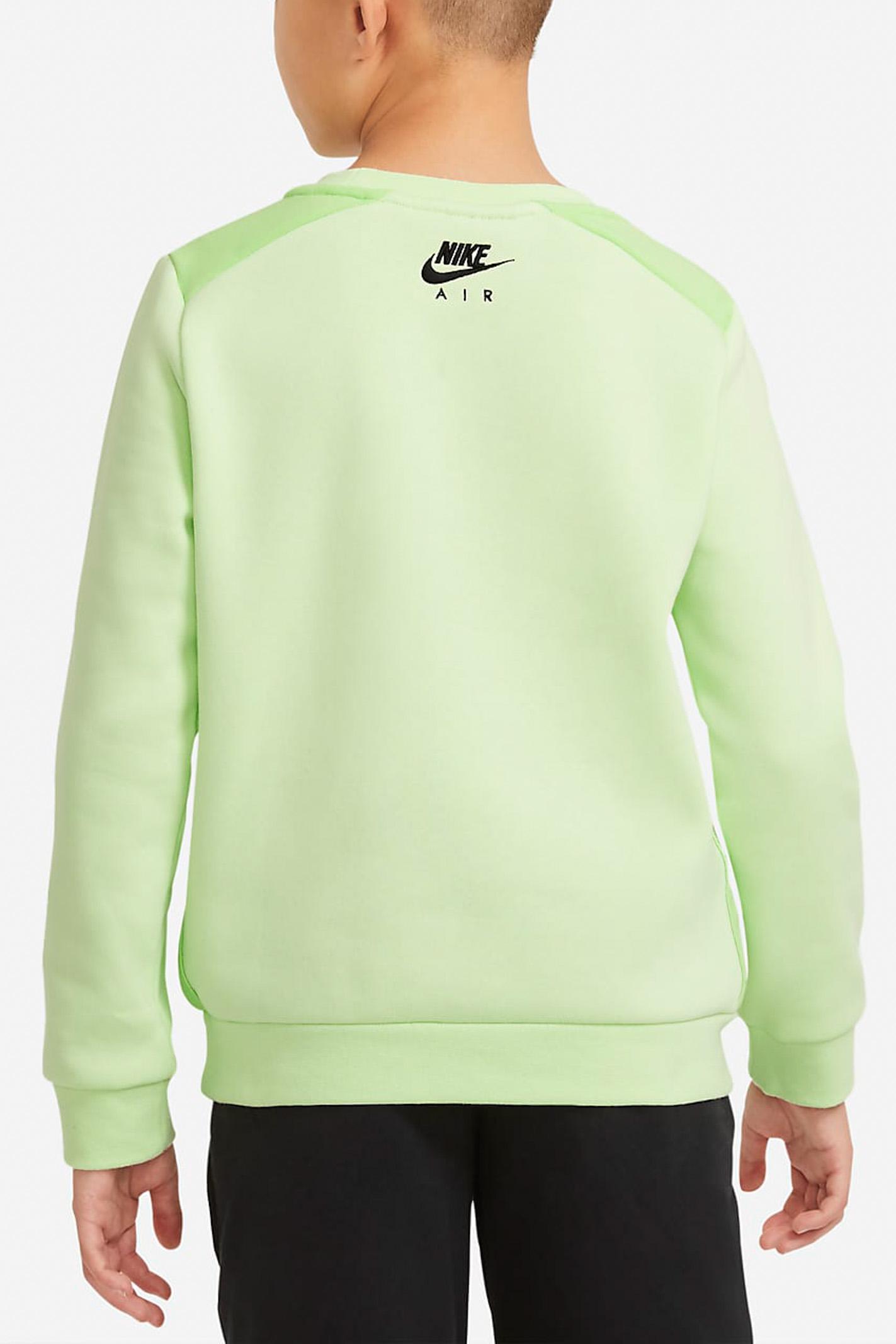 Felpa bambino gialla Nike girocollo con logo frontale a contrasto NIKE | Felpe | DA0703383