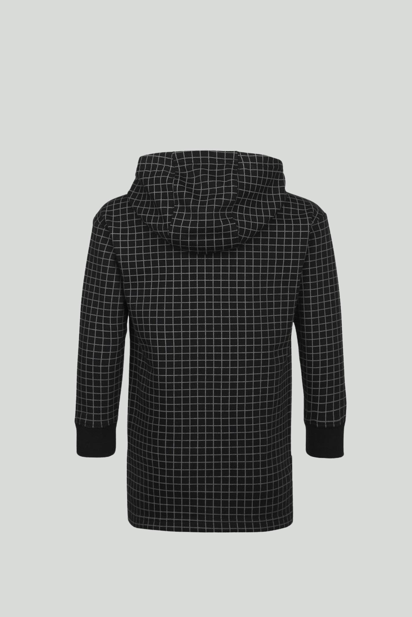 Black fleece hoodie with contrasting logo on the front. Baby model. Brand: Nike NIKE | Sweatshirt | DA0755010