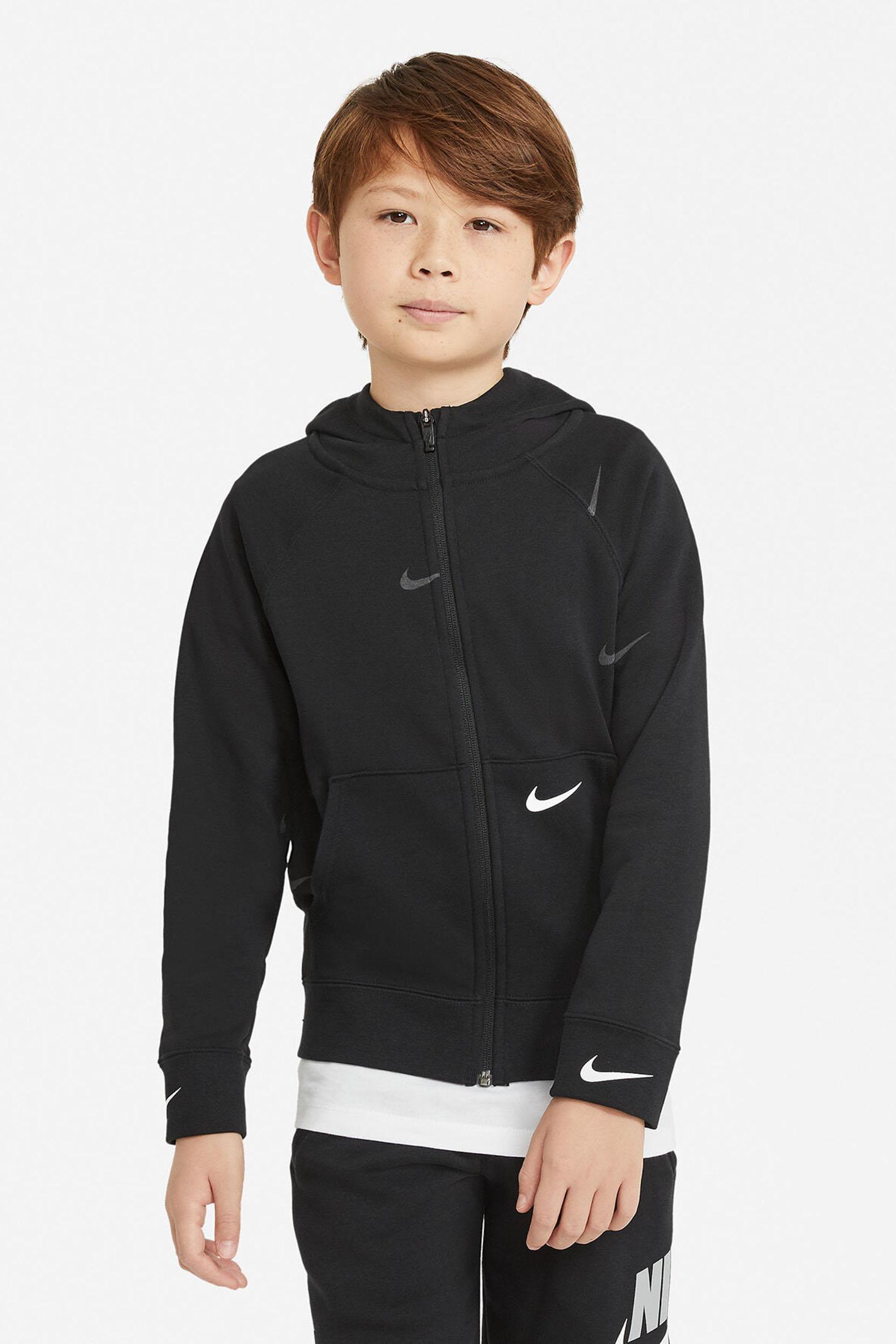 Black hoodie with front zip. Baby model. Brand: Nike NIKE | Sweatshirt | DA0768010