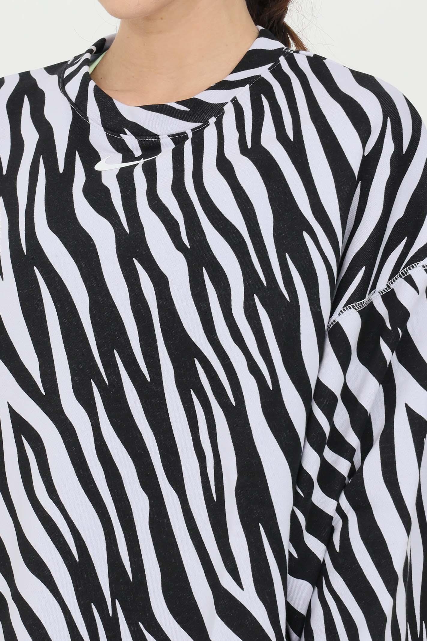 Maglia a girocollo icon clash zebrata NIKE | Felpe | DC6898596