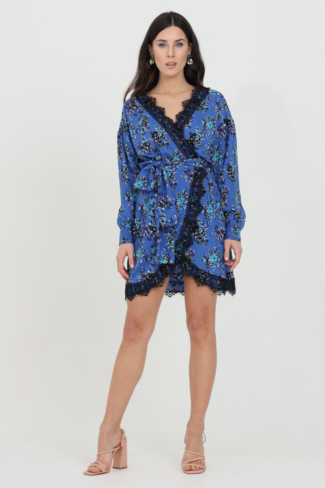 Floral dress with belt, wallet closure PINKO | Dress | 1G163N-8460ET3