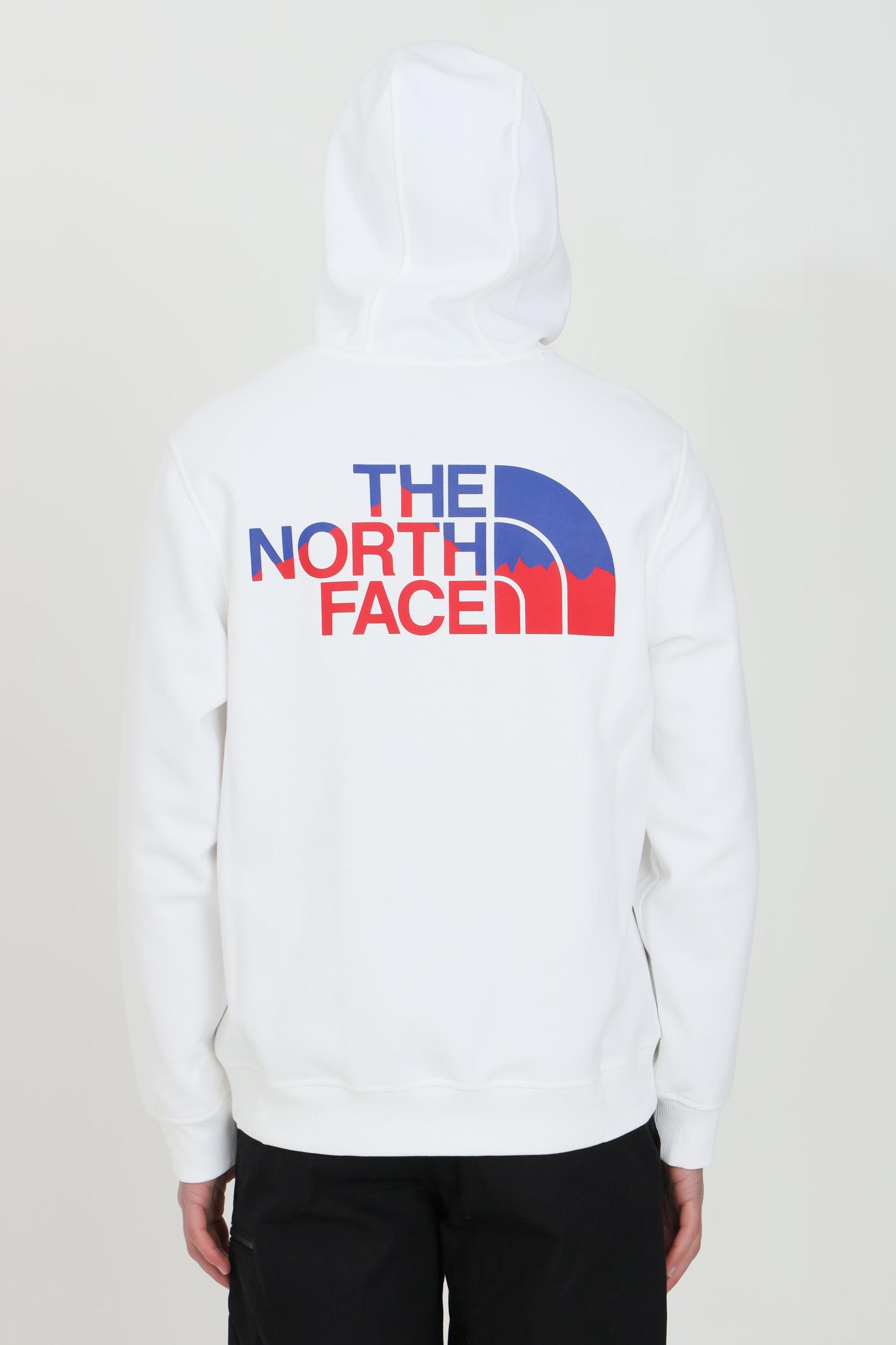 Felpa uomo bianco the north face con cappuccio e coulisse. Logo frontale. Tasca marsupio e fondo a costine elastico THE NORTH FACE   Felpe   NF0A5317FN41FN41