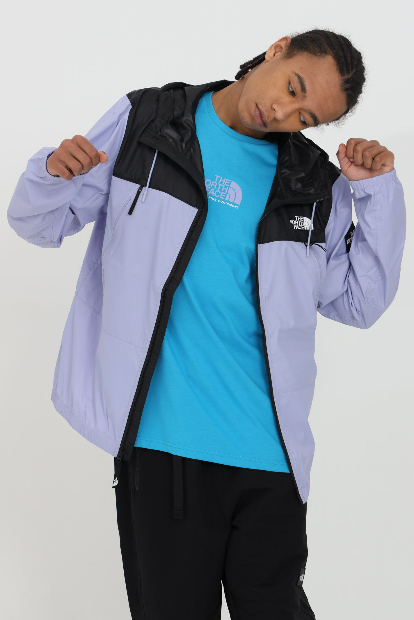 Wind jacket with zip closure and side patch logo THE NORTH FACE | Jacket | NF0A55BRW231W231