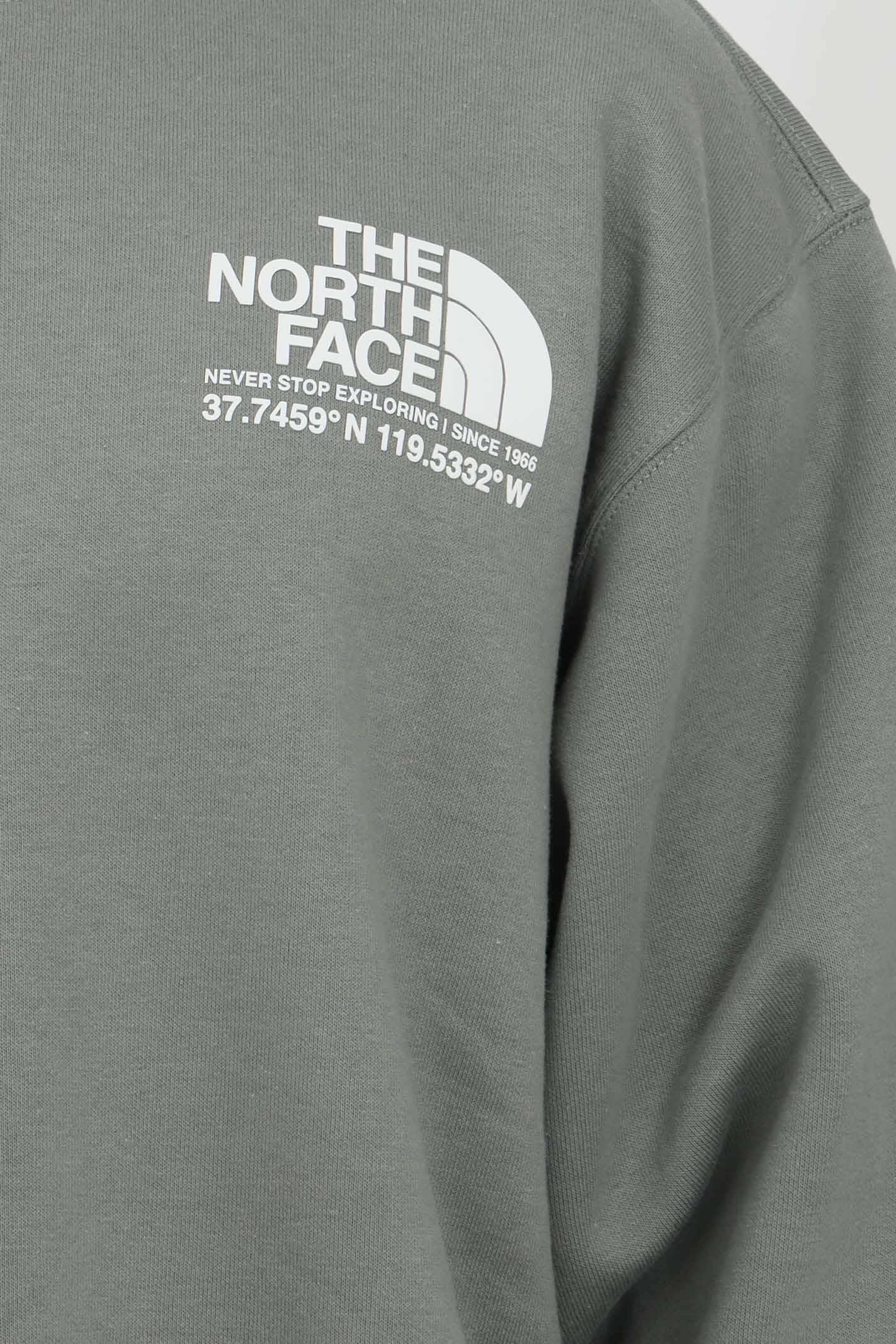 Felpa uomo verde the north face girocollo con stampa sul retro. Modello comodo con fondo e polsini elastici THE NORTH FACE | Felpe | NF0A55MXV381V381