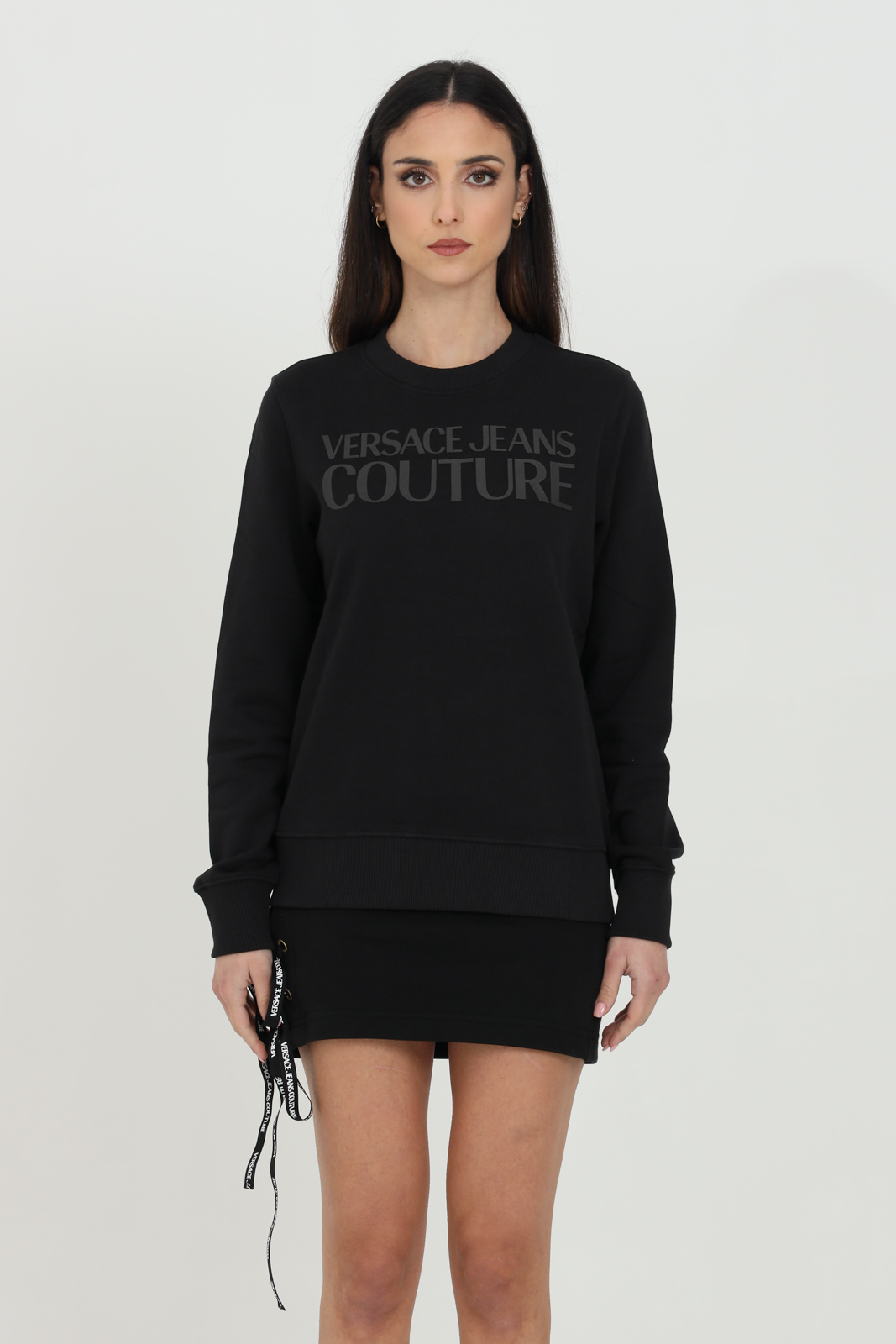Sweatshirt with plain front logo VERSACE JEANS COUTURE | Sweatshirt | B6HWA7TN30453899