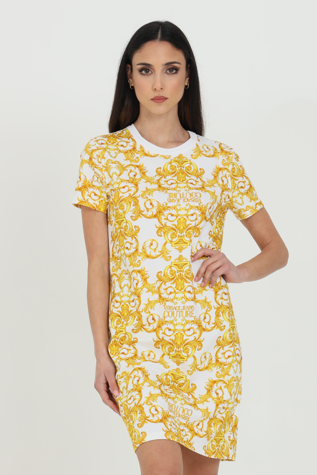Printed knit dress VERSACE JEANS COUTURE   Dress   D2HWA401S0155003
