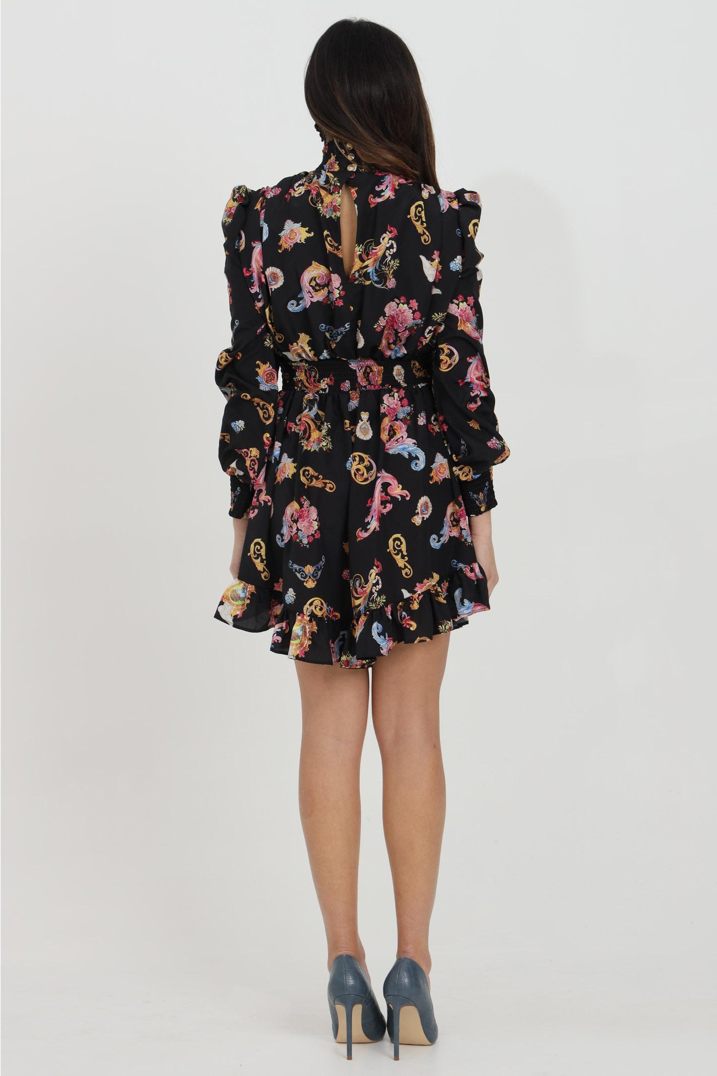 Vestito con motivo barocco Versailles VERSACE JEANS COUTURE | Abiti | D2HWA410S0996899