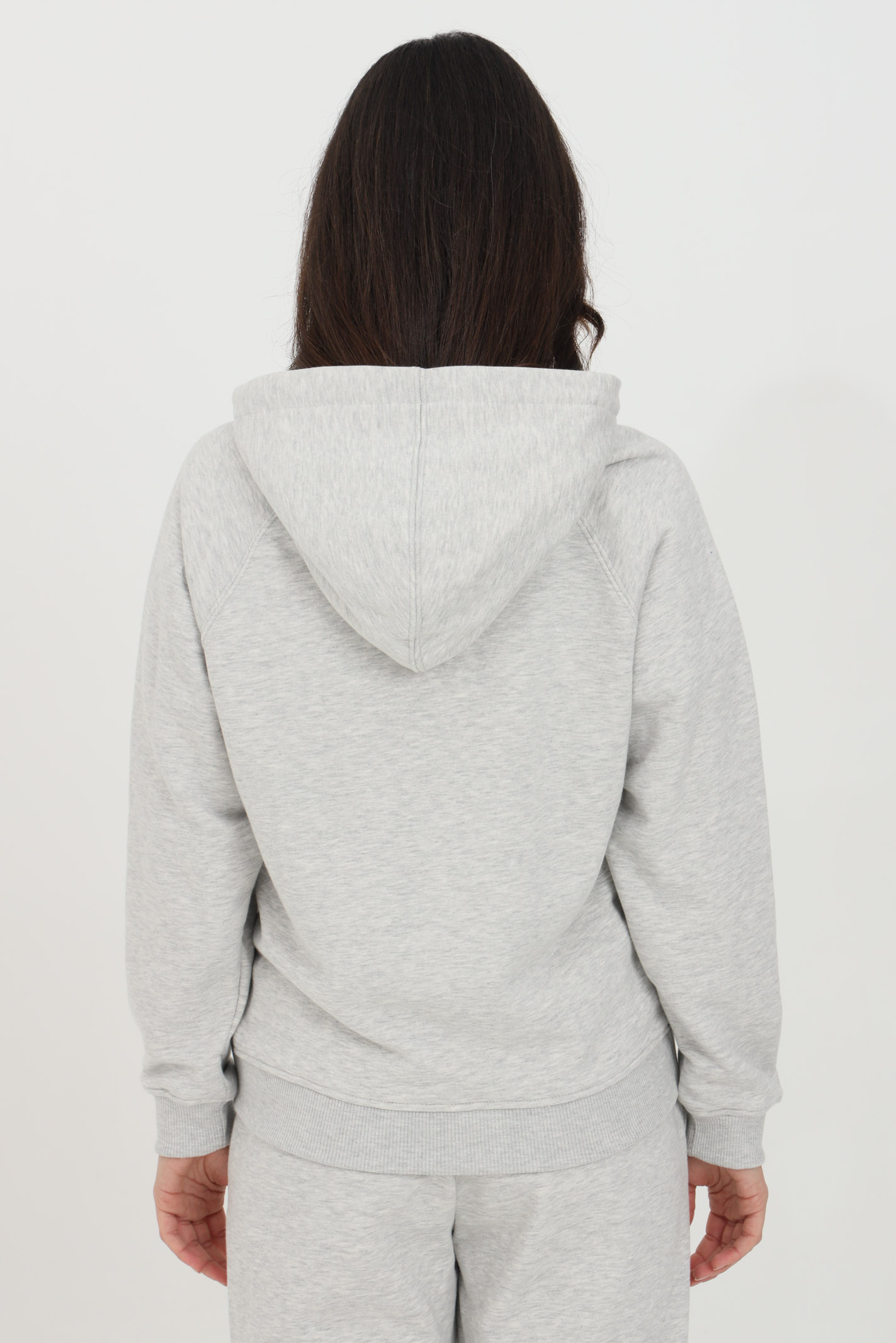 Grey hoodie with elastic bottom and cuffs and maxi logo print on the front. Vicolo VICOLO | Sweatshirt | RH0004GRIGIO