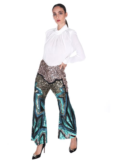 Pantalone Con Applicazioni H9as03 CIRCUS  HOTEL | Pantaloni | H9AS03ETNO TEKNO