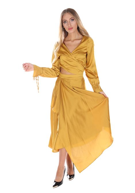 Gonna Lunga Con Drappeggi Gs0168 GLAMOROUS | Gonne | GS0168OCHRE SATIN