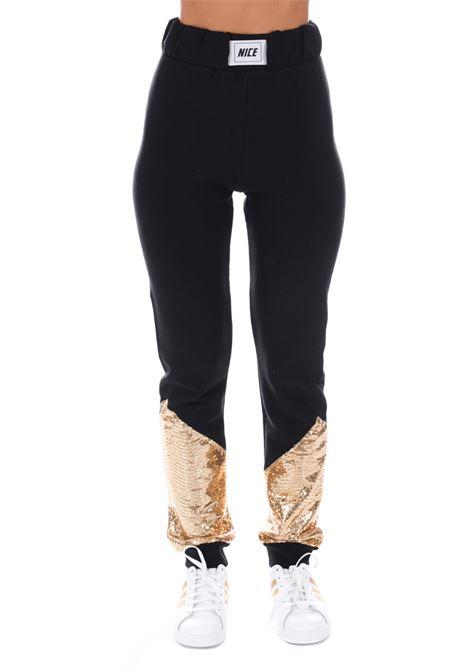 Pantalone Tuta Logato N5503 NICE | Pantaloni | N5503NERO