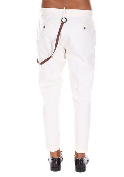 Pantalone Classico Con Catena Yes London YES LONDON | Pantaloni | 3057PANNA