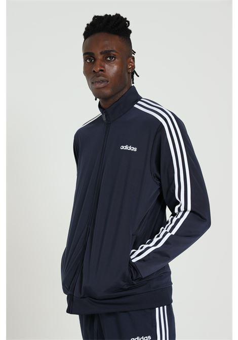 Sweatshirt man blue adidas essential tricot 3-stripes ADIDAS | Sweatshirt | DU0445LEGINK/WHITE
