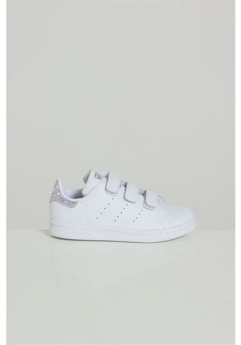 Sneakers Stan Smith bambina bianche Adidas, chiusura con velcro ADIDAS | Sneakers | EE8484FTWWHT/FTWWHT