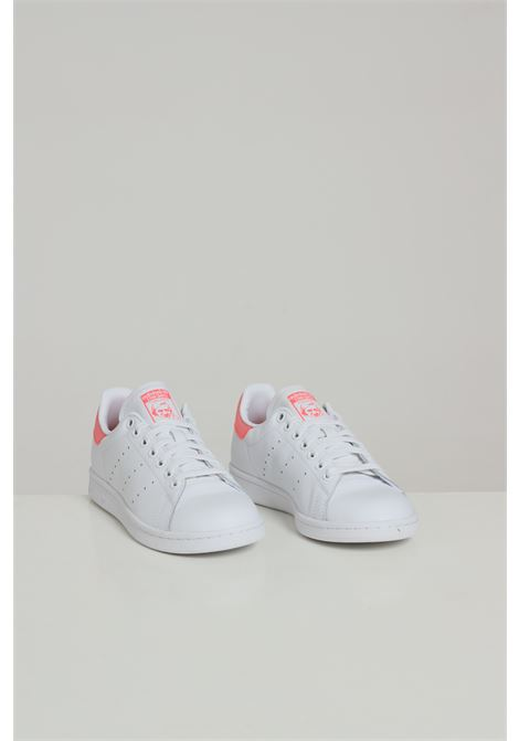 White women's stan smith sneakers adidas  ADIDAS   Sneakers   FU9649FTWWHT/SIGPNK