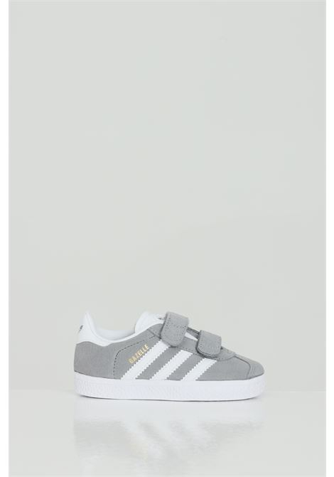 GAZELLE CF GRETHR/FTWWHT/GOLDMT Velvet sneakers with rips  ADIDAS | Party Shoes | FW0713GREY